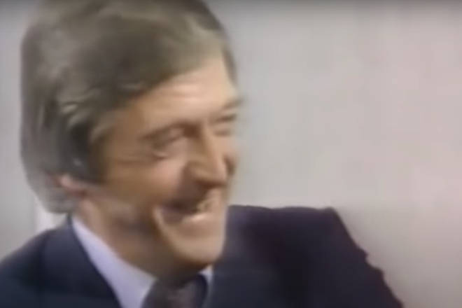 Robin, Maurice and Barry Gibb were guests on Michael Parkinson's (pictured) TV show 'Parkinson' when the host asked them to sing their 1967 song 'Massachusetts'.