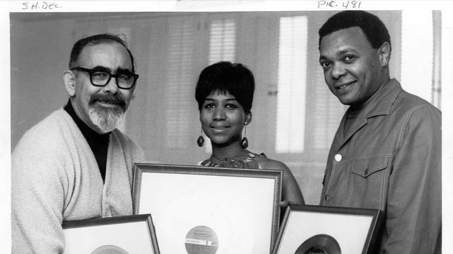 Ted White with Aretha and Jerry Wexler in 1968