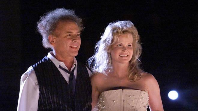 Art Garfunkel with wife Kim Cermak in 2001