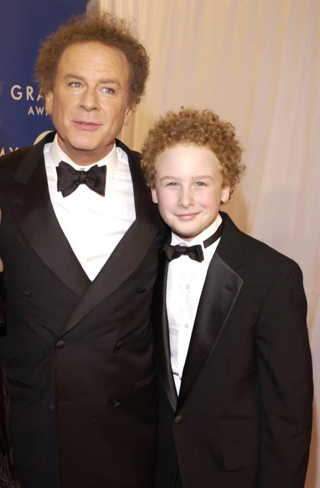 Art Garfunkel and his lookalike son James in 2003