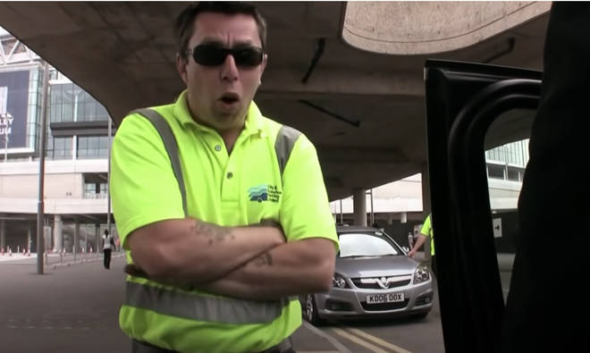 George Michael may have been the one of the most recognisable pop stars in the world, but it seems a high vis-clad security guard would beg to differ.