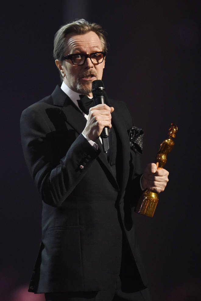 David Bowie was honoured for his music and influence over his varied and long career, with his good friend actor Gary Oldman accepting the Icon Award on David's behalf (pictured).