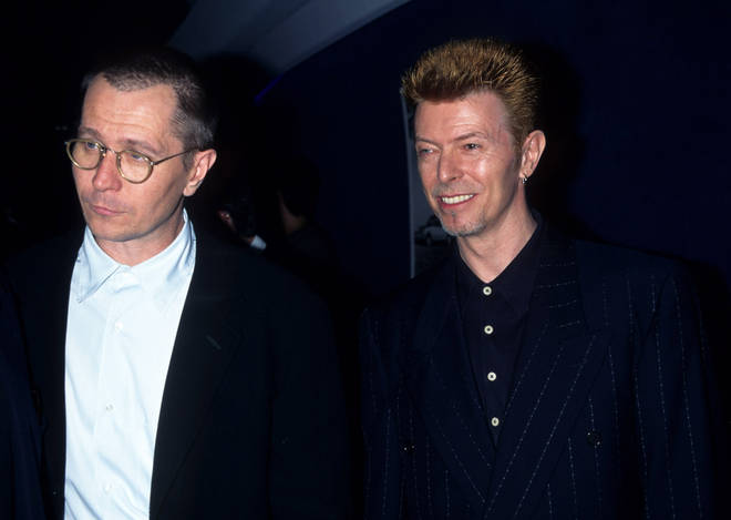 Actor Gary Oldman (right) and David Bowie were great friends. The apir pictured together at a film premier in New York in 1997.