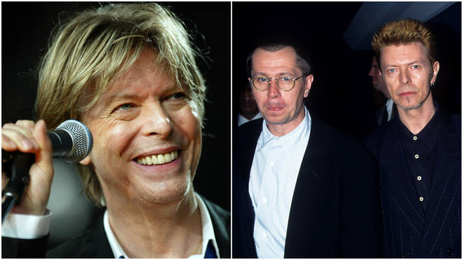David Bowie wrote a funny and reflective letter to his good friend Gary Oldman (centre) to tell him of his cancer diagnosis just months before his death in 2016.
