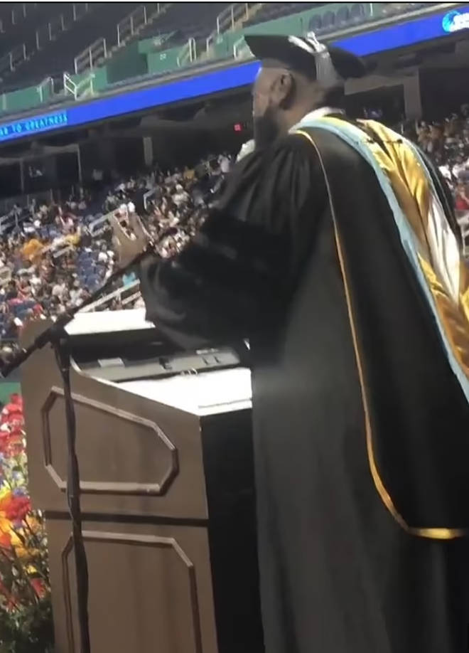 The video was shared on Facebook by Winston McGregor, a member of theGuilford County Board of Education, where he called it 'pure gold'.