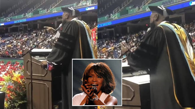 High school headmaster Marcus Gause has sung a a jaw-dropping version of 'I Will Always Love You' to his graduating pupils.