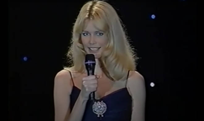 Patrick Swayze and wife Lisa were introduced to the stage by supermodel Claudia Schiffer (pictured).