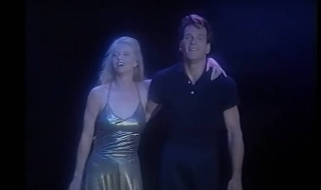 Lisa Niemi and Patrick Swayze took a bow after their incredible performance (pictured).