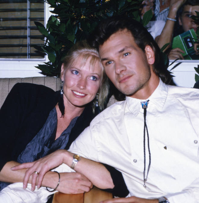 Patrick Swayze met his wife Lisa when the two were just teeangers and were married for 34-years (Pictured in the 1980's)