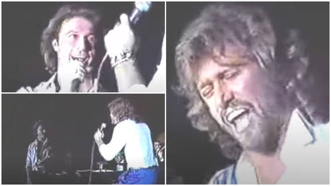 A rare video of Andy Gibb and Bee Gee Barry Gibb singing on stage in 1987 is one of the few times the pair were known to have performed together in public.