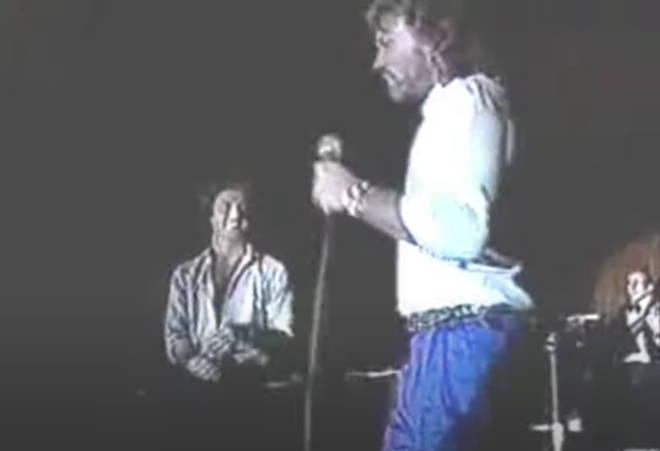 Andy Gibb and Barry Gibb were performing at the Love and Hope Ball in 1987, a private party in Miami to raise funds for the Diabetes Research Institute.
