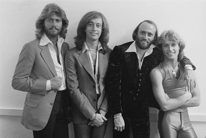Robin Gibb revealed that he warned Andy Gibb that his lifestyle would kill him just three days before the youngest Gibb collapsed and died. (Pictured L to R: Barry, Robin, Maurice and Andy Gibb)