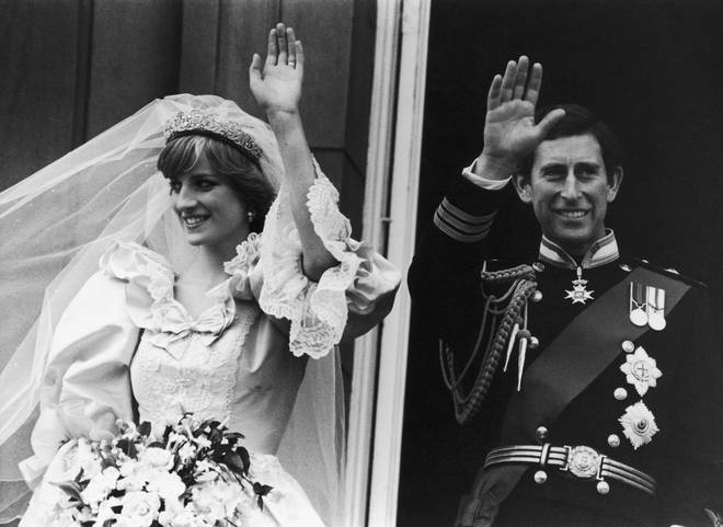 Prince Charles and Lady Diana Spencer get married in 1981