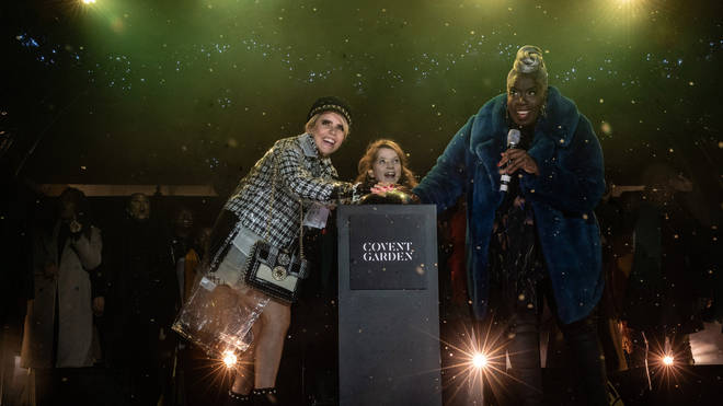 The Christmas lights were switched on by Paloma Faith, The Kingdom Choir and the cast of Matilda
