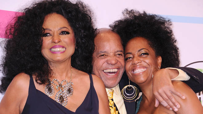 Diana Ross with Berry Gordy and their daughter Rhonda