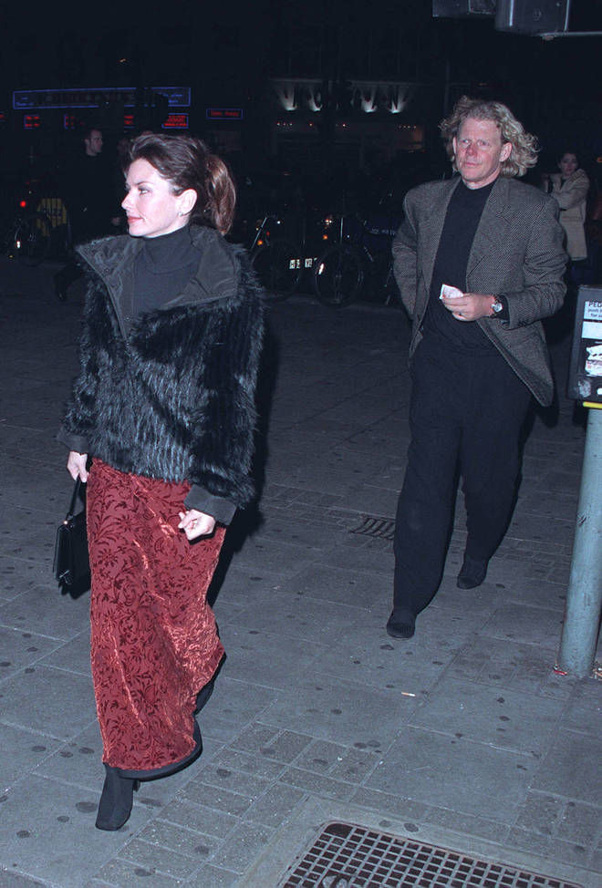 Shania Twain And husband Mutt Lange in 2000