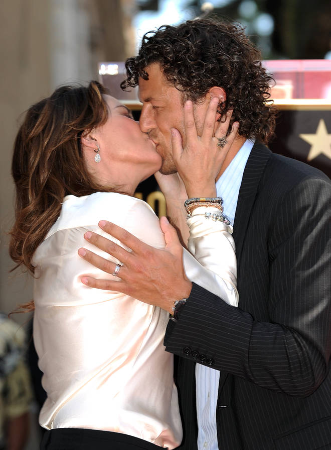 Shania Twain with husband Frederic in 2011