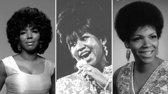 Aretha Franklin (centre) with her sisters Erma (left) and Carolyn (right)