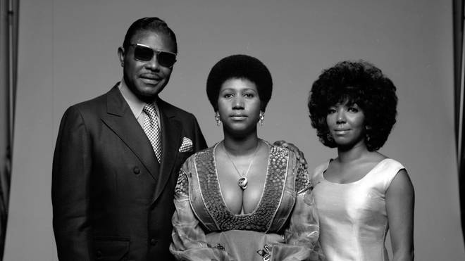Aretha Franklin (centre) with her father CL and sister Erma (right)