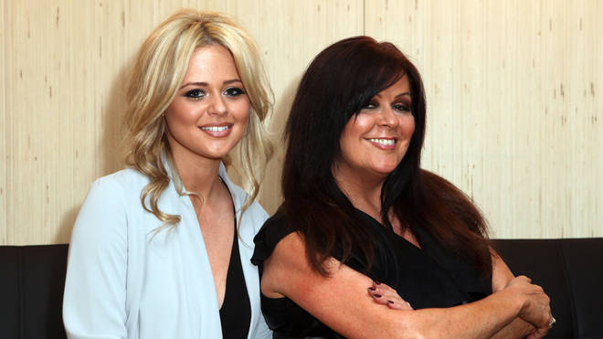 Kate Robbins with Emily Atack in 2012