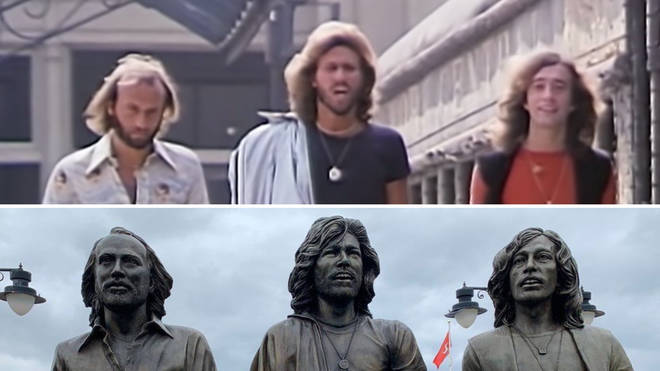 Bee Gees statue in Isle of Man