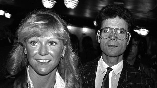 Cliff Richard and Sue Barker in 1983
