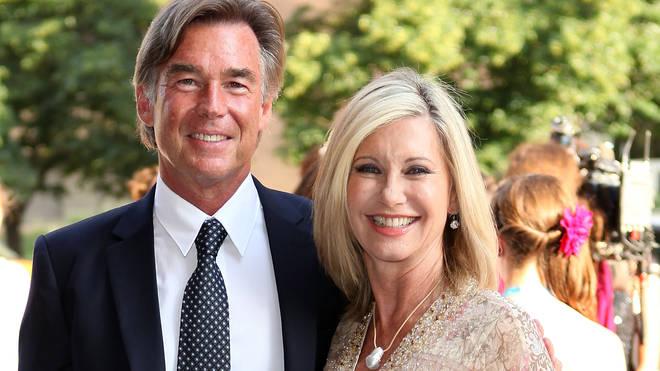 Olivia Newton-John with husband John Easterling in 2012