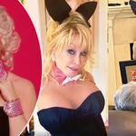 Dolly Parton recreates iconic Playboy shoot at 75 for husband Carl's birthday, and shares glimpse of partner too