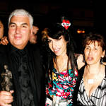Amy Winehouse with her parents Mick and Janis in 2008
