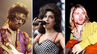 Jimi Hendrix, Amy Winehouse and Kurt Cobain are in the 27 Club
