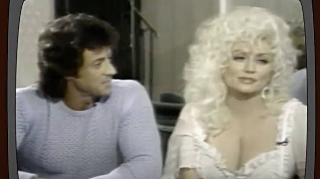 """Dolly Parton describes days on set with Sylvester Stallone as a 'joy', telling the presenter, """"I loved his energy and his personality."""""""