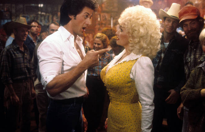 Watch Dolly Parton gush about 'Rhinestone' co-star Sylvester Stallone in unearthed interview clip