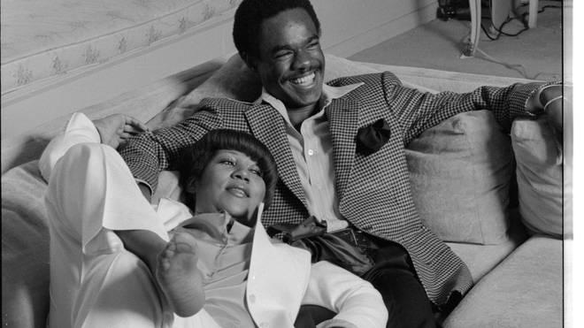 Aretha Franklin and Glynn Turman at home