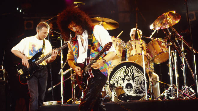 Queen performing at the Freddie Mercury Tribute Concert
