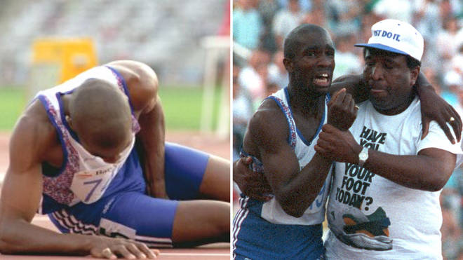 Derek Redmond was helped by his father at the 1992 Olympics