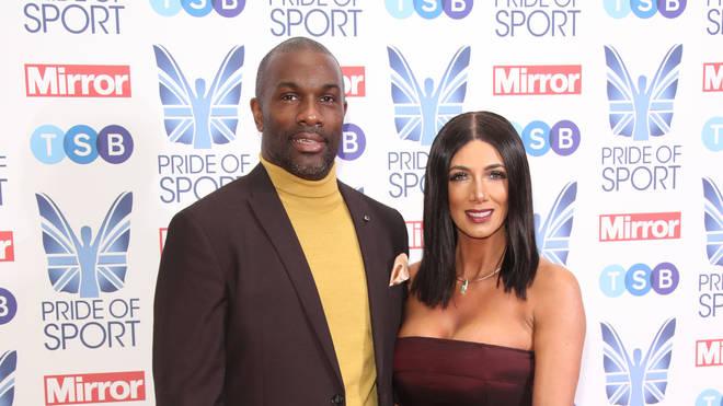 Derek Redmond with wife Maria in 2018