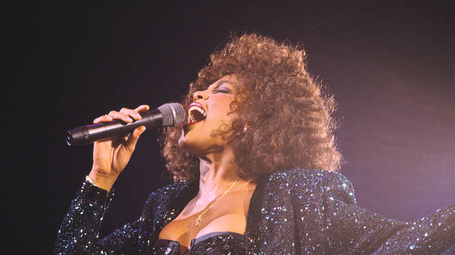 Whitney Houston Performs In Paris Bercy On May 18th, 1988 In Paris,France