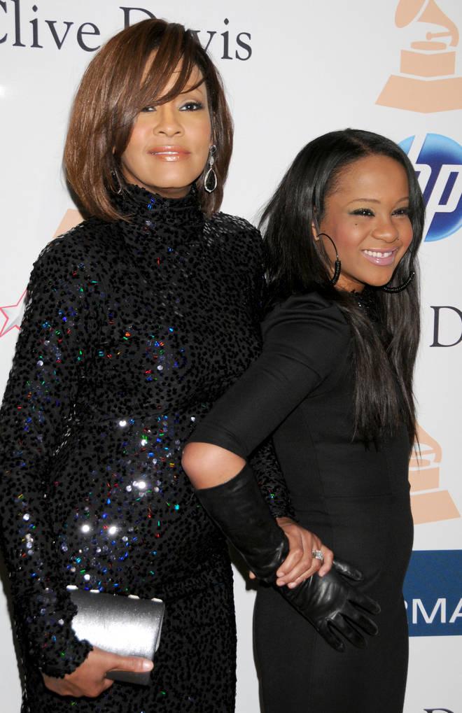 Whitney Houston and Bobby Kristina in 2011