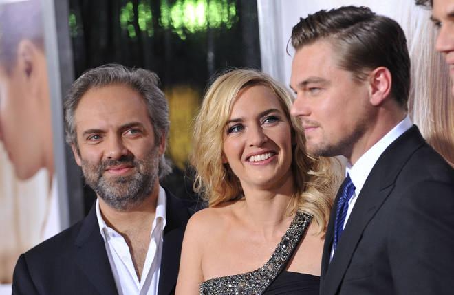 Leonardo DiCaprio, Kate Winslet and her then-husband Sam Mendes