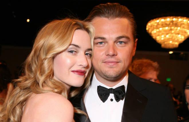 Kate wins a Golden Globe and tells Leonardo she loves him during acceptance speech