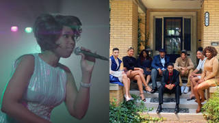 Jennifer Hudson visits Aretha Franklin's family in Detroit and new film clip shows her singing 'Respect'