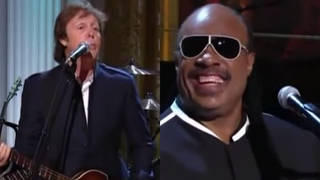 Paul McCartney and Stevie Wonder perform iconic 'Ebony and Ivory' song together at White House for Barack Obama
