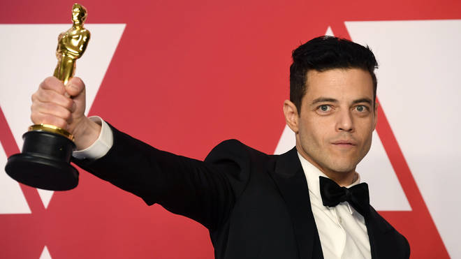"""Rami Malek, winner of Best Actor for """"Bohemian Rhapsody,"""" poses in the press room during the 91st Annual Academy Awards at Hollywood and Highland on February 24, 2019 in Hollywood, California. (Photo by Frazer Harrison/Getty Images)"""