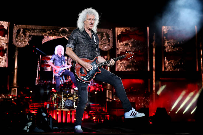 Brian May of Queen performs at ANZ Stadium on February 15, 2020 in Sydney, Australia. (Photo by Don Arnold/WireImage)