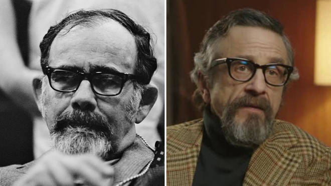 Marc Maron (right) plays Jerry Wexler in the Aretha Franklin biopic Respect