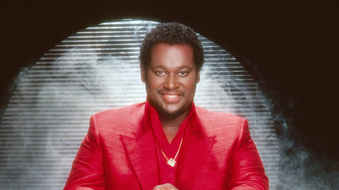 Luther Vandross posing smiling in Los Angeles, California in 1995