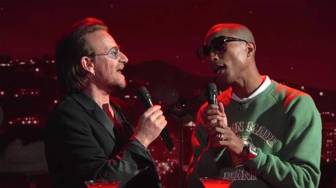 Bono and Pharrell