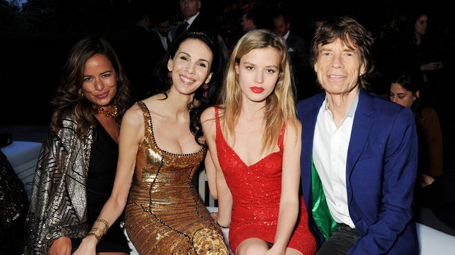 Jade Jagger, L'Wren Scott, Georgia May Jagger, and Mick Jagger at The Serpentine Gallery on June 26, 2013 in London, England. (Photo by Dave M. Benett/Getty Images for The Serpentine Gallery)