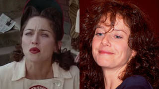 Debra Winger and Madonna A League of Their Own 1992 movie
