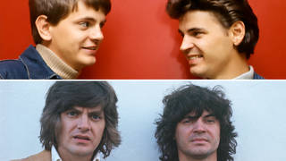 The Everly Brothers had a very public feud